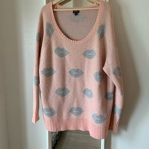 """Torrid """"sealed with a kiss"""" sweater"""